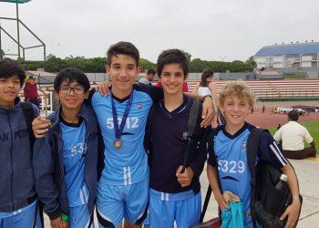 2do como equipo ADECORE Atletismo - Colegio San Pedro